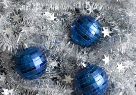 Blue And Silver Christmas Decorations Images by Photo Of Christmas Baubles And Tinsel Free Christmas Images