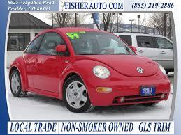 used volkswagen beetle hatchback 2 cars under 10 000 1999 vw beetle gls red 5 900 longmont denver