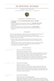 Designer Resume Examples by Senior Instructional Designer Resume Samples Visualcv Resume