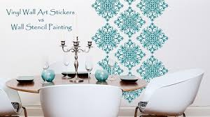 painting stencils for wall art vinyl wall art stickers or wall stencil painting which is better