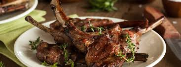 Rack Of Lamb On Grill by Lamb Chops With Rosemary Sauce