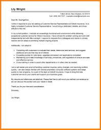 Insurance Resume Cover Letter 8 Resume Cover Letter Examples For Customer Service Letter Of Apeal