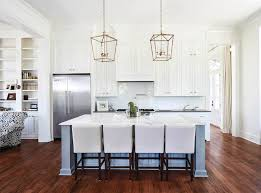 Brass Island Light Beautiful Kitchen Features A Pair Of Small Darlana Lanterns In