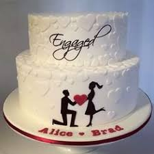 engagement cake designs 3 tier silhouette heart engagement cake pinteres