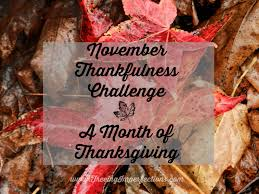 a month of thanksgiving challenge