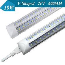 t8 led tube light v shaped 18w t8 led integrated tube light 60mm 2ft 0 6m led tubes