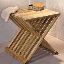 folding teak bath stool abledata