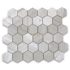 carrara marble tile italian white carrera 2 inch hexagon mosaic