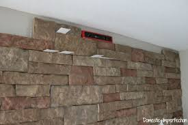 Interior Brick Veneer Home Depot Diy Faux Stone Wall Aka The Best Thing Ever Domestic Imperfection