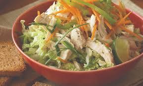 napa salad chicken and napa cabbage salad recipe spry living