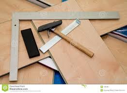 Diy Laminate Floor Diy Project Laminate Floor And Tools Used Royalty Free Stock