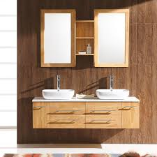 double bowl sink vanity 59 bellezza double vessel sink vanity natural wood modern regarding
