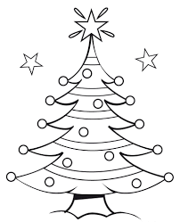 outline of christmas tree christmas lights decoration