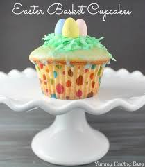Easter Cake Decorating Games by Vanilla Glazed Easter Basket Cupcakes Yummy Healthy Easy