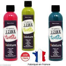 teinture pour tissu canapé teinture textile à froid izink 180 ml 12 coloris teinture à