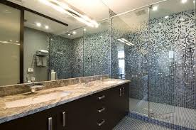 interesting 10 bathroom remodel ideas with glass tile design