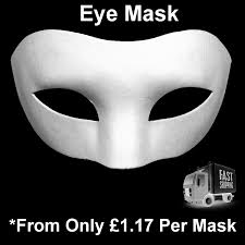 white eye mask mask plain mask decorate masquerade halloween