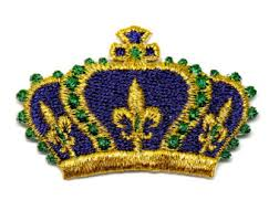 mardi gras crowns crown patch etsy