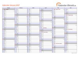 Kalender 2018 Hessen Ausdrucken Feiertage 2017 Hessen Kalender