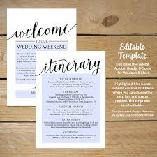 Destination Wedding Itinerary Template Wedding Itinerary Template This Editable Template Enables You To