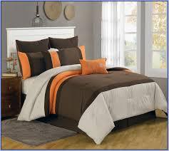 Burnt Orange Comforter King Orange And Brown Bedding 13