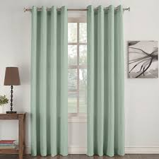 Mint Green Curtains No 918 Oasis Crushed Microfiber Grommet Top Curtain Panel Oasis