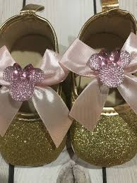 1st birthday minnie mouse shoes gold glitter shoes