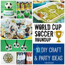 soccer crafts u0026 party ideas roundup crafts unleashed