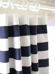 White And Blue Striped Curtains Navy And White Striped Curtains Raham Co