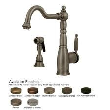 single handle kitchen faucet with side spray buy low price whitehaus collection essexhaus one handle single