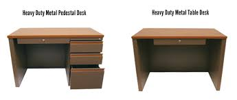 metal desk with laminate top intensive use metal furniture commercial supply distributors