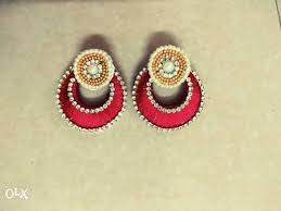 home made earrings chandbali new home made earrings available in all colors pune