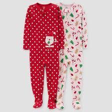 carters santa pajamas target