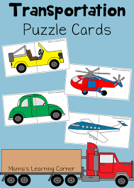 transportation puzzle cards for preschoolers mamas learning corner