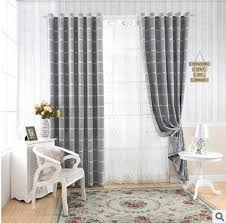 Plaid Blackout Curtains Aliexpress Buy Polyester Cotton Decoration Light