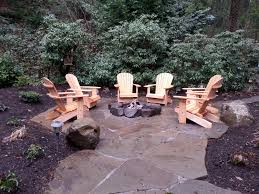 rustic gas fire pit mercer island wa sublime garden design