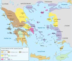 Kos Greece Map by Ancient Greek Dialects Wikipedia