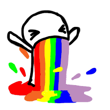 Puking Rainbow Meme - puke rainbows by hatemalife on deviantart