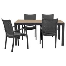 Dining Table Design With Price Falster Innamo Table And 4 Armchairs Outdoor Gray White Ikea