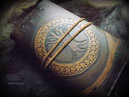 viking yggdrasil tree of design leather journal moleskin