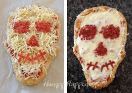 skull shaped pizza hungry happenings halloween