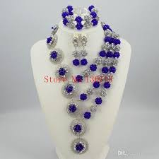 beads necklace sets images 2018 new design nigerian wedding african beads jewelry set crystal jpg
