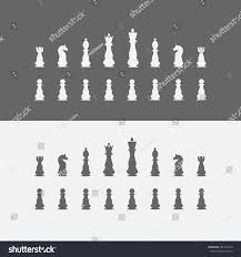 icons chess pieces chess set vector stock vector 481425670