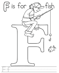 f is for fish alphabet coloring pages free printable alphabet