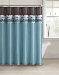 Aqua Blue Shower Curtains Poetica Faux Silk Aqua Blue Teal Brown Turquoise Fabric Bathroom
