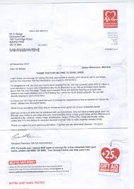 thank you letter from british heart foundation bedroom and