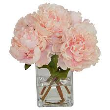 faux peonies floral decorative accents decor one