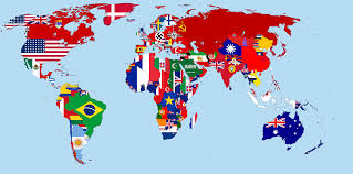 Lithuania World Map by Flag Map Of The World 1942 World Maps Pinterest