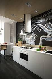 mur noir cuisine cuisine et bois en 42 idées de design d intérieur