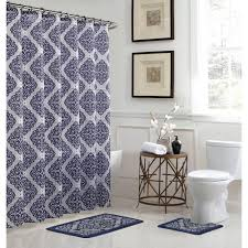Bathroom Shower Curtain And Rug Set Bath Fusion Christine Chocolate Bath Rug And Shower Curtain